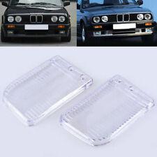 Pair Fog Light Lamp Transparent Lens Cover Case For BMW E30 3-Series 1984-1991