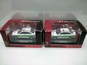 Yatming 1:72 Scale / Audi RS6 Sedan - Polizei - Police Car - Model Cars x2