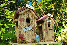 Vogelhaus, Nistkasten, Vogelhäuschen, WC , Toiletten Häuschen für Sie und Ihn