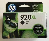 NEW Genuine HP 920XL Black Ink Cartridge  (CD975AN) OEM Sealed Exp. 2021-2022