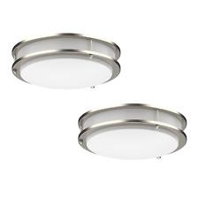 2-PACK Dimmable LED Flush Mount Ceiling Light Fixture Ring Modern 10