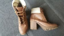 Heeled Leather Boots - Size 7