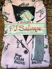 NWT PJ Salvage Pink Soft Warm Cotton Flannel Champagne Pajamas PJs Plus Size 1X