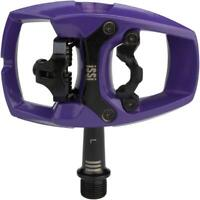 iSSi Flip III Pedals - Single Side Clipless with Platform Aluminum 9/16 Violet
