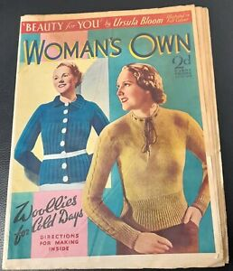 Vintage Woman`s Own magazine Oct 3rd 1937 Barbara Hedworth Spencer Tracy
