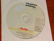 Nuance OMNIPAGE 18 PAPERPORT 14 Scanning OCR Document Software Program Edit Scan