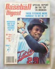 Rod Carew Minnesota Twins March 1978 Baseball Digest ex