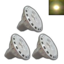 3x MR11 LED 2,5 Watt GU4 12V AC/DC warmweiß Leuchtmittel Reflektor Lampe silber