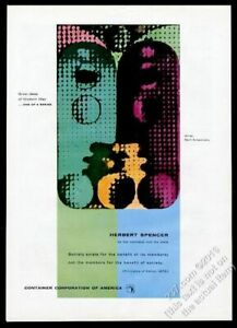 1955 Xanti Schawinsky art Herbert Spencer quote CCA vintage print ad