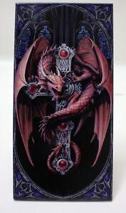 Nemesis Now GOTHIC DRAGON Designer Decorative Art Tile Fantasy Mythical Cross