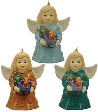 Goebel 2015 Angel Bell Set of 3 Nib Angel Holding Sleigh 110300 New In Box