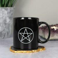Pentagram Black Ceramic Mug 10cm Tea Coffee Soup Cup Gothic Wiccan Gift Boxed