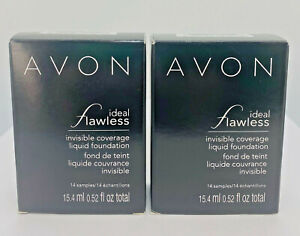 (2-pack) Avon 14 ct Ideal Flawless Invisible Liquid Foundation (Light-Light Med)
