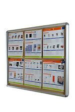 Lockable Notice Board 6xA4 Indoor Cork Board Pin Board