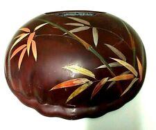Maruni Occupied Japan Lacquerware Wall Vase 1940's Decor Asian