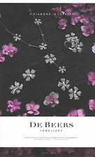 PUBLICITE ADVERTISING 2011 DE BEERS bijoux joaillerie de luxe (grand modèle)