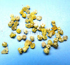 0.98 ct rare natural yellow color raw diamond beads for jewelry deco opaque $87