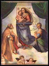 2012 Raffaello: la Madonna Sistina - Vaticano - foglietto FDA