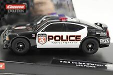 CARRERA 27252 DODGE CHARGER POLICE CAR W/ FLASHING ROOF LIGHTS NEW 1/32 SLOT CAR