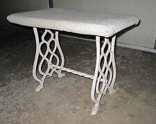 ANTIQUE BEDROOM BATHROOM VANITY CHAIR INTERIOR DECORATE IRON LEGS PROJECT DECOR