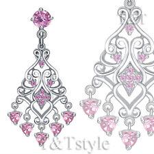 Dangle Belly Bar Ring Bl500B T&T Luxury Reverse Pink Cz Heart