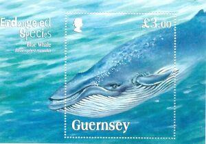 Guernsey-Blue Whale-Min sheet mnh Endangered Animals