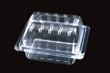 """50 Clear Plastic 5.5"""" Food Take Out Clamshell Container Cupcake Cookie Favor #D5"""
