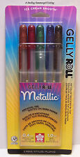 New! 5 Metallic Gelly Roll Pens ~ Creamy Smooth Archival Ink Sakura of America ~