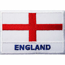 ENGLAND Flag UK Embroidered Iron On Shirt Hat Backpack Rucksack Patch Badge