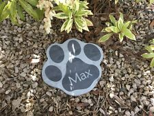 Slate Paw Print Pet Memorial by Scottish Slate Gift