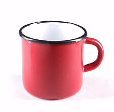 RED Email Tasse Emaille Kaffee Becher Camping mug Metal 400 ml NEU ROT RED