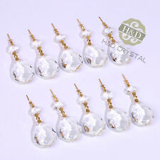 10Pcs Crystals Glass Chandelier Lamp Lighting Part Prisms Hanging Drops Pendants