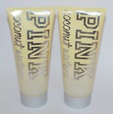 LOT OF 2 VICTORIA'S SECRET PINK COCONUT WATERS 2 IN 1 WASH SCRUB BODY BATH LARGE