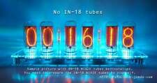12V-[*No Tube*]-DIP-DIMMER-Pluggable-IN-18 6-Tube NIXIE Clock with enclosure