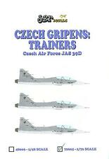 JBr Decals 1/72 JAS 39D GRIPEN Czech Air Force Jet Trainer