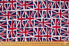 ALL OVER UNION JACK FLAG FABRIC - 100% COTTON - 148 cms WIDE