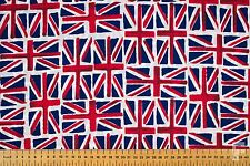 ALL OVER UNION JACK FLAG FABRIC - POLY COTTON - 150 cms WIDE