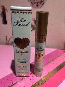 Too Faced Lip INSURANCE Original Lip Primer 0.15 oz - New & Authentic SEALED NIB