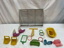LOT OF VINTAGE PLASTIC BIRD TOYS - LADDER / MIRRORS / Ect.