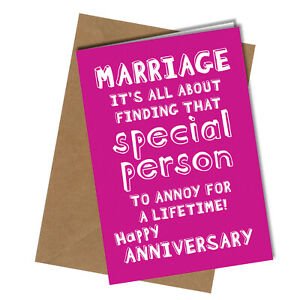Anniversary Card Marriage it's all about finding that special person Rude #28
