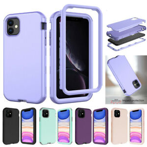 For iPhone 11 12 Pro Max XR 7 8 XS Case Hybrid Shockproof Heavy Duty Hard Cover