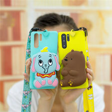 For Samsung Galaxy Note10+ S10+ Cartoon cute dumbo Bear Wallet Purse Phone Case