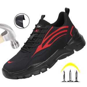 UK Safety Shoes Mens Trainers Steel Toe Cap Work Boots Trainers Hiking Sneakers