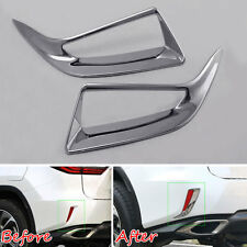 Accessories Chrome Rear Bumper Reflector Fog Light Cover For 2016 RX350 RX450h