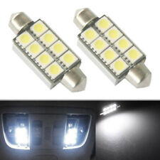 2PCS 42mm 8 SMD 5050 LED Pure White Canbus Festoon Dome Roof Light Lamp Bulb New