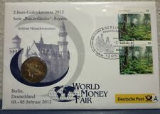 2 euro gedenkbrief numisbrief 2012 a * Estados federados * Baviera World Money Fair