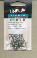 Tiemco - 2499SP-BL - nymph / dry - size  06 - qty 25    barbless