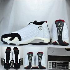 "2005' Air Jordan Retro ""White/Black-Toe/Varsity-Red"" 14's, Sz 11 Rare Nike"