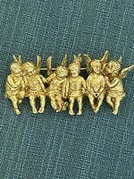 I Am Edgar Berebi My  In A Row Angel Luck Liu Vintage Brooch PinMade 2001 New