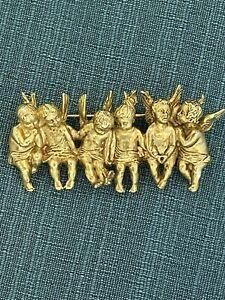 All In A Row Angel Child Luck Liu I am Edgar Berebi  Brooch Pin ..Made 2001 New